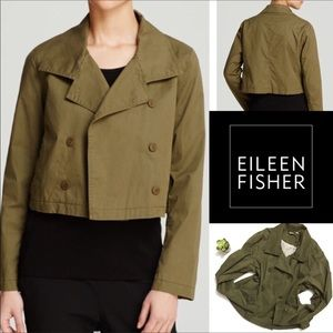 EILEEN FISHER Project Dbl Brst Olive Crop Jacket